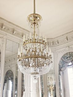 """Title: """"Chandelier Dreams""""    A soft, neutral palette of colors, """"Chandelier Dreams"""" is a gorgeous photo taken inside of The Palace of Versailles. The tone of this photograph is both dreamy and refreshing."""