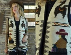 Vintage Ethnic Peruvian Wool Embroidered by RoslynVTGTradingCo, $26.00