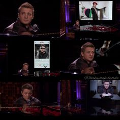 Jeremy Renner singing as hawkeye on Jimmy Fallon.<<< click to watch it's amazing