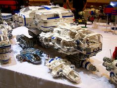 PCS Ship,  Brickfest 2006. Photo by Bill Ward | #Lego #Spaceship