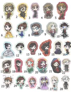 Chibi Once Upon a Time Chibi Plushie Pillows by CreativeFuse