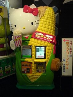 VENDING(=^.^=)MACHINES .. Now Gimme my POPCORN KITTY!! Please..
