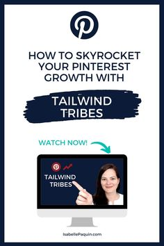 Tailwind Tribes | Skyrocket Your Pinterest Growth in 2020 // In this tutorial you'll find out how to use Tailwind Tribes for Pinterest. Learn what are Pinterest tribes, how to join Tailwind Tribes and the BEST Tailwind Tribes strategy for Pinterest growth, and to increase your traffic. Social Media Tips, Social Media Marketing, Pinterest For Business, Say Hi, Pinterest Marketing, Being Used, Online Business, How To Find Out, Join