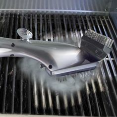 The Steam Cleaning Grill Brush - Hammacher Schlemmer