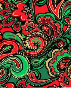 Deck the Halls - Paisley Confections - Red/Gold