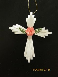 Another of my quilled crosses and punched flowers