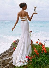 Slim Charmeuse Gown with Beaded Neckline and Back