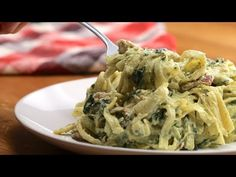 One-Pot Creamy Chicken Bacon Pesto Pasta - YouTube