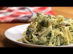 One-Pot Creamy Chicken Bacon Pesto Pasta - YouTube