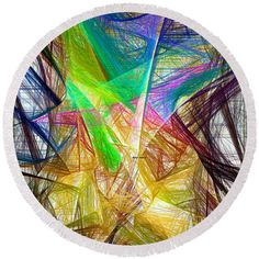 Round Beach Towel - Abstract 9618