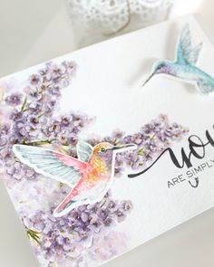 VIDEO: More Flora | Stamped hummingbird colored with Distress Markers.