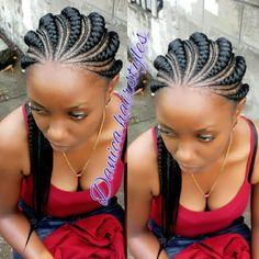 ♔ ♡ Very beautiful ♡ ♔ - African Braids Hairstyles Braided Cornrow Hairstyles, Feed In Braids Hairstyles, Braided Hairstyles For Black Women, Teen Hairstyles, African Hairstyles, Black Hairstyles, Gorgeous Hairstyles, Hairstyles Videos, Simple Hairstyles