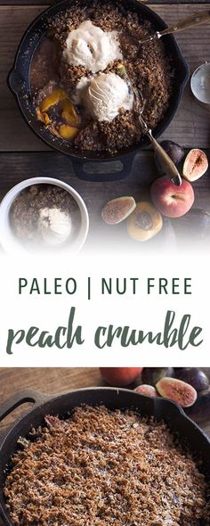 Paleo peach crumble (substitute another nut/seed flour for tigernut flour, for GAPS)