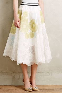 Guilloche Midi Skirt by Not So Serious by Pallavi Mohan #anthrofave #anthropologie