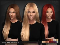 The Sims Resource: Let Loose hairstyle by Nightcrawler - Sims 4 Hairs - http://sims4hairs.com/the-sims-resource-let-loose-hairstyle-by-nightcrawler/