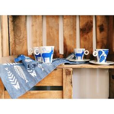 We are so happy for our new collaboration! THE BLUE WHITE collection @saf_santorini. Beautiful space to visit  #thebluewhite #placemats #espresso #santorini #greece #summer