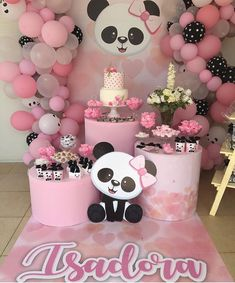 The Amazing Balloon Decorator in Lucknow Events Bucket Panda Themed Party, Panda Birthday Party, Panda Party, Bear Party, Baby Birthday, Birthday Parties, Baby Shower Niño, Baby Shower Themes, Baby Shower Decorations