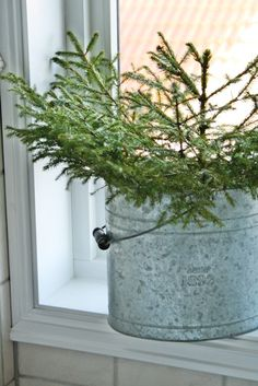 A little simple spruce creates the Christmassy mood