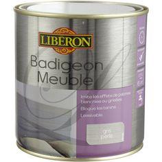 Lasure Badigeon meuble LIBERON, gris perle, 0.5 L