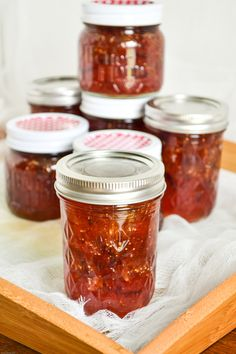 Homemade Fig Preserves.  I've made fig before but this is a fun new recipe to try!  Can't wait til our fig tree starts blossoming!  #homemade #recipe
