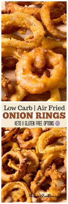 how to fry onions This is such a great idea for an appetizer recipe. Really easy and Yummy Low Carb Air Fried Onion Rings. Keto and gluten free options as. Air Fryer Oven Recipes, Air Frier Recipes, Air Fryer Dinner Recipes, Recipes Dinner, Breakfast Recipes, Diet Breakfast, Best Appetizers, Appetizer Recipes, Simple Appetizers