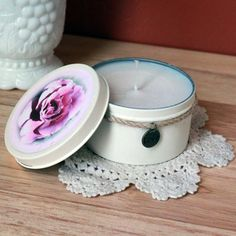 Soft Petal Rose Candle Tin
