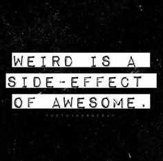 Let's all be weird