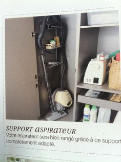 1000 images about placard on pinterest storage closet - Meuble rangement aspirateur ikea ...