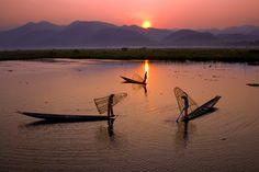 Fisherman's Dawn, Lake Inle, Myanmar. Photo by Bo Bo Zaw.