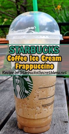 Starbucks Coffee Ice Cream Frappuccino! Rich and creamy coffee flavors! #StarbucksSecretMenu