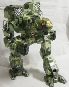 Battletech - Detailed Timber Wolf (Mad Cat) Robot Ver.3 Free Paper Model Download