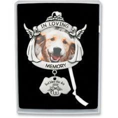 In Loving Memory Dog or Cat Memorial Photo Ornament gift boxed with ribbon. www.sympathysolutions.com