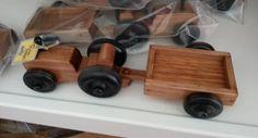 Wooden Mini Tractor w/ Wagon Preschool by AlaratessAlexbres