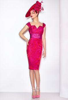 DONNA 06456  Conjunto de vestido de fiesta corto en jacquard
