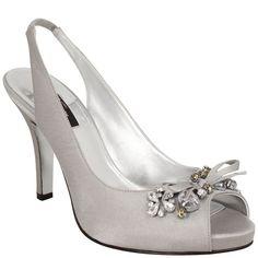 Nina Milika | Royal Silver Crystal Satin Homecoming Queen For A Day, Bejeweled, Fall Sale, Shoes, Pumps, Bridal | Nina Shoes