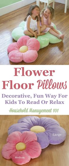 These flower floor pillows are an adorable way for kids to sit around in your home.