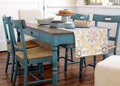 Beautiful colored table