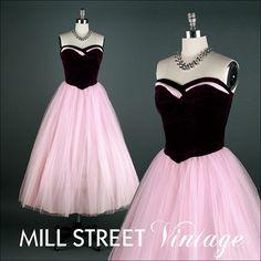 Vintage 1950s Dress  Lilac Tulle  Purple by millstreetvintage, $185.00