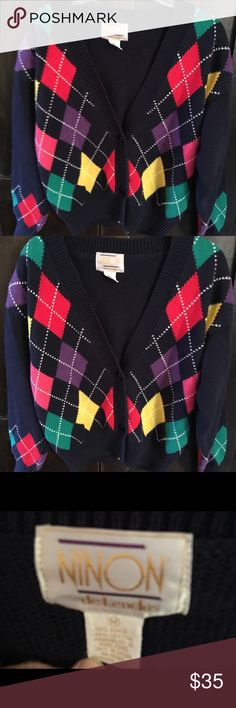 Argyle Sweater By Ninon. Size M. Great for Fall! Argyle Sweater By Ninon. Size M. Great for Fall! Ninon Sweaters Cardigans