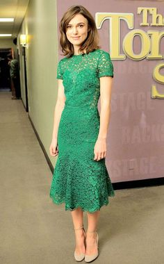 Keira Knightley in green lace