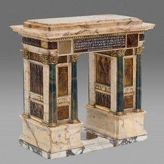 Arch of Septimius Severus ; Neoclassical dessert centrepiece of a surtout de table by Luigi Valadier, 1778 Grand Tour, Neoclassical Architecture, Renaissance, Miniature Crafts, Bird Cages, Ancient Art, Decorative Items, Tabletop Accessories, Art Decor