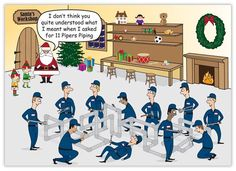 This hilarious plumbing Christmas card will provide a chuckle for all your customers and associates, as well as have them humming a familiar Christmas carol! Description from brookhollowcards.com. I searched for this on bing.com/images