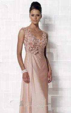 Floral V-neckline Dress By Cameron Blake 112646W