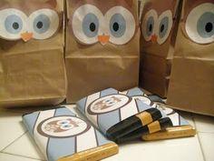 Cute owl goodie bags!! :)
