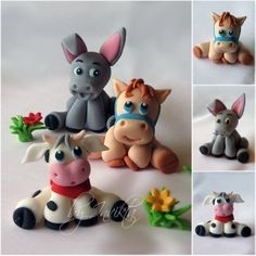 Fondant Farm Cuties...Adorable! by SUZIE Q