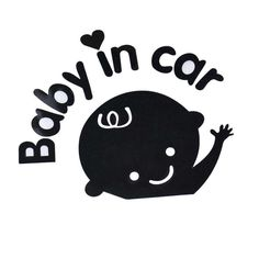 Creatyve Baby In Car  Waving Baby On Board Safety Car Decal Sticker Top Quality #Unbranded