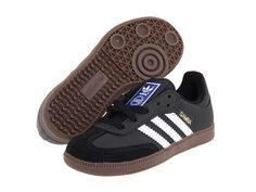 adidas Originals Kids Samba® Leather (Little Kid/Big Kid) Black/White/Gum 2 - Zappos.com Free Shipping BOTH Ways