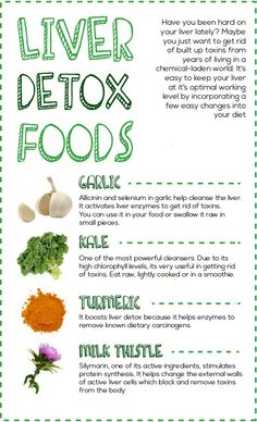 Foods which detox the liver. http://vitalitynutrition.org/ #detox #cleaneating