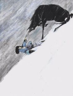 Mulan - Concept Art - Disney. awwwwww!!!! poor horsey!!!! and poor mulan! she should have taken a cab. :P