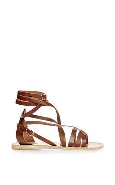Satira Leather Wrap Sandals by Ancient Greek Sandals - Moda Operandi